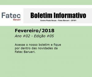 Boletim Fatec Barueri 2020, Ano #02 - Edição #05