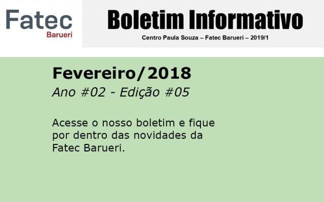 Boletim Fatec Barueri 2019, Ano #03 - Edição #05