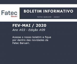 Boletim Fatec Barueri 2020, Ano #03 - Edição #09