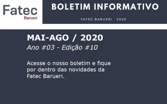 Boletim Fatec Barueri 2020, Ano #03 - Edição #10