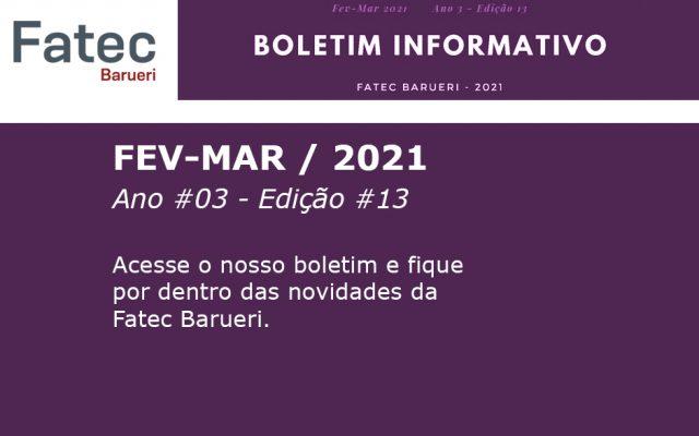 Boletim Informativo Fatec Barueri - Ano #03 - Ed. #13